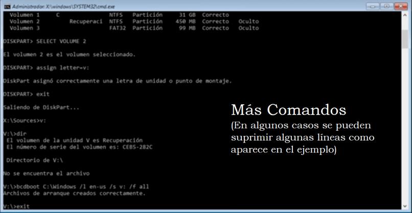 escrever símbolo de comando sistema Windows