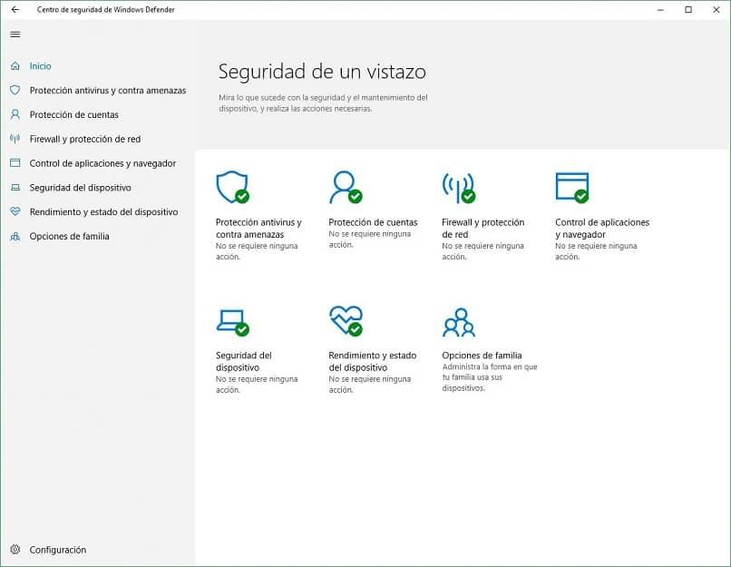 antivírus windows 10 ventana