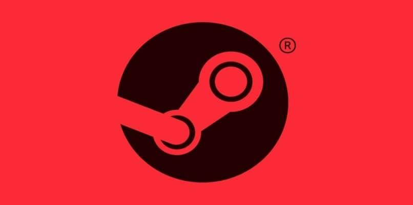 fundo vermelho do logotipo da Steam
