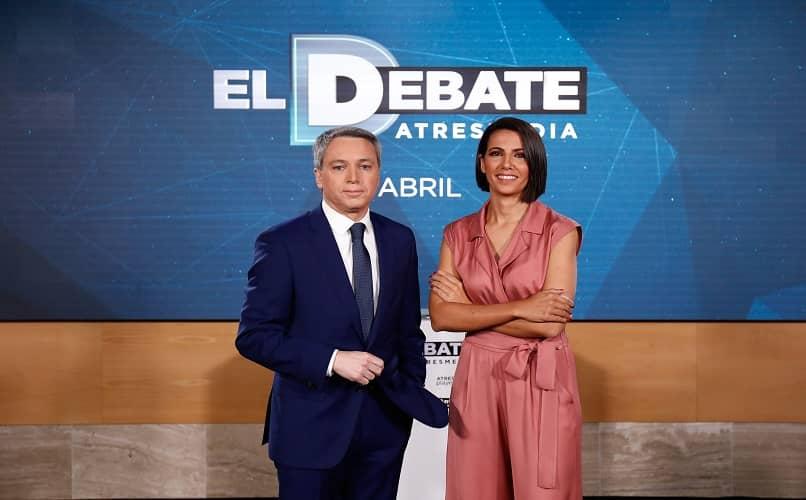 programe o debate no canal da mídia
