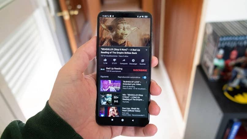 youtube rodando em android