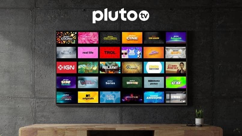 vários canais diferentes temas pluto tv
