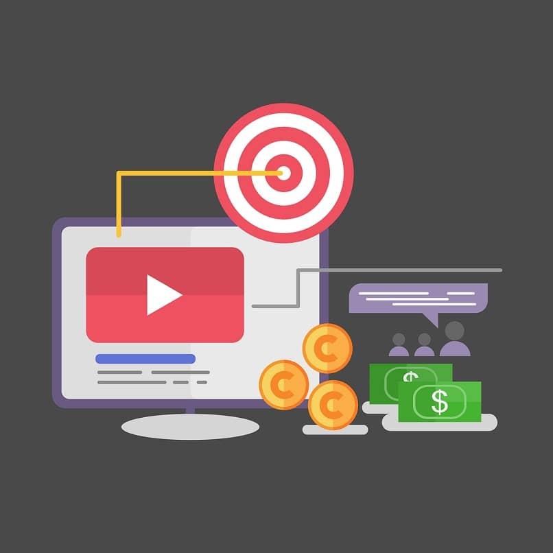 moedas e notas da tela do youtube