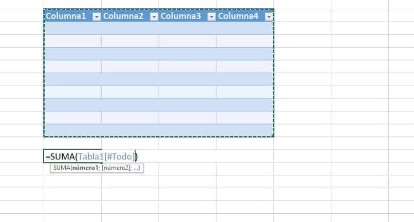 tabela de referência estruturada