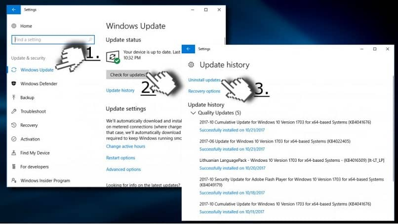 desinstalar atualização do windows