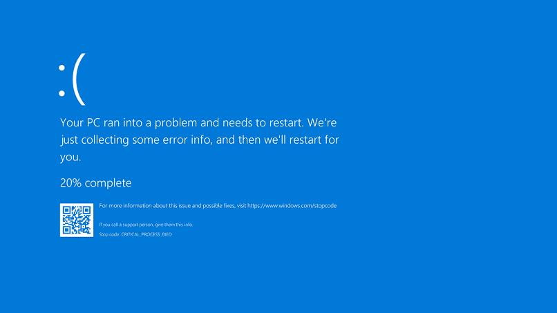 tela azul mostrando erro no windows
