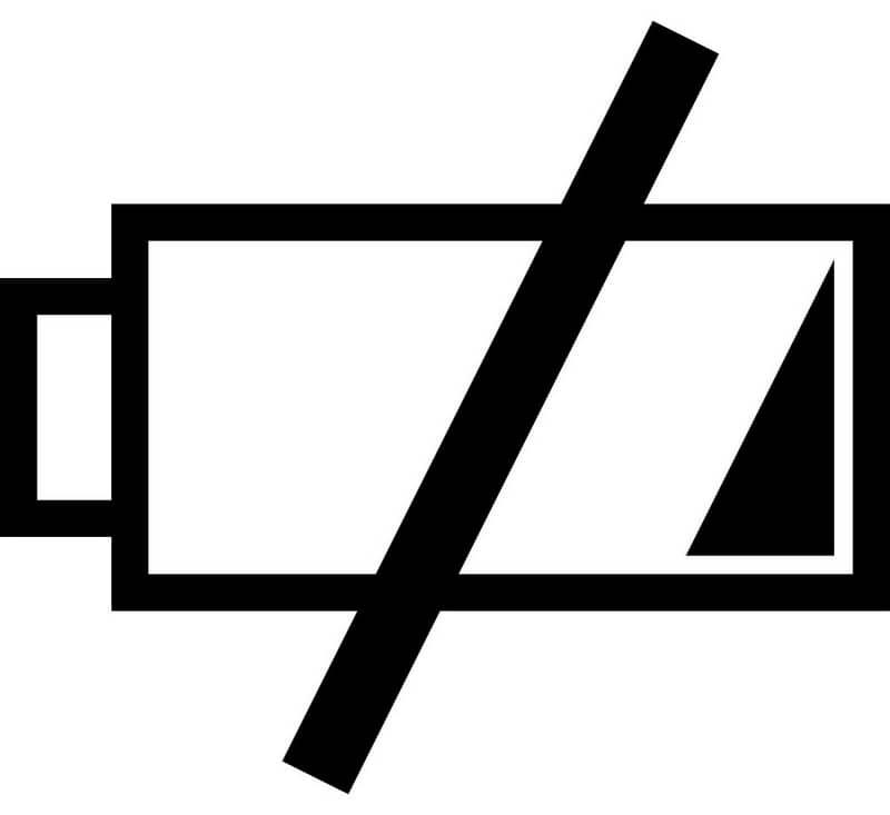 Imagem de bateria fraca