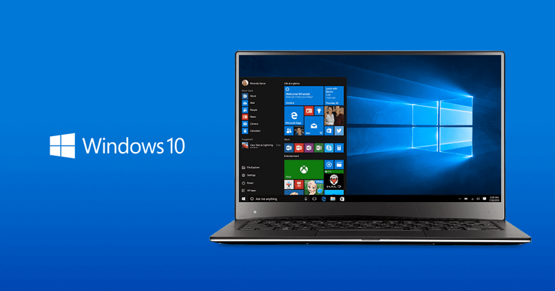 laptop com logotipo do windows 10
