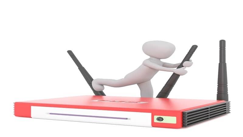 Mudança de roteador wi-fi