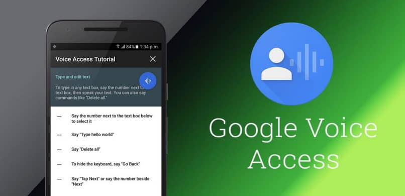 acesso de voz do google