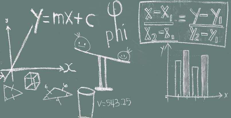 operações matemáticas do quadro-negro