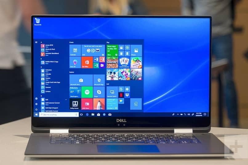 barra de pesquisa e menu iniciar no Windows 10