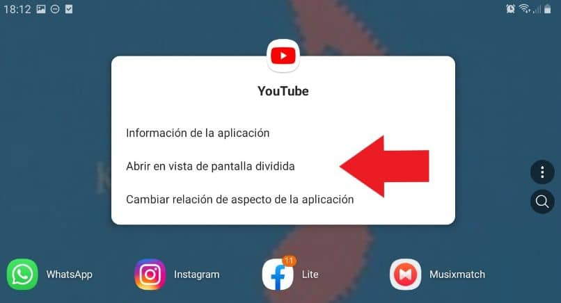 tela dividida android youtube