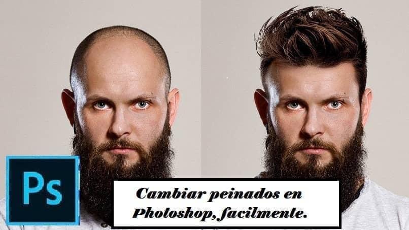 homem com mudança de cabelo no photoshop