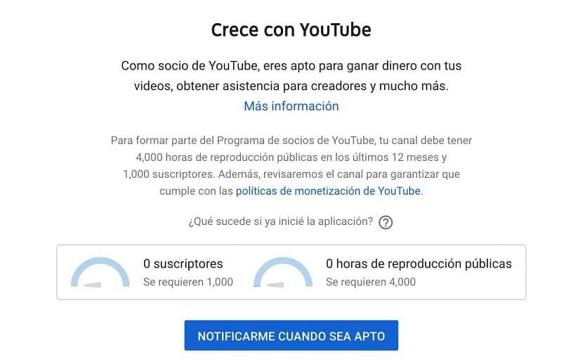 opção do youtube para ver horas de reprodução pública