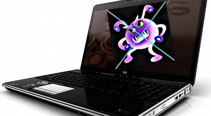 vírus de laptop