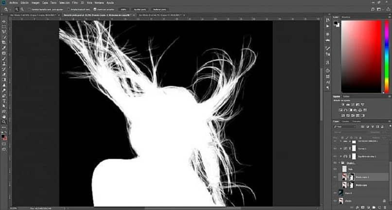 edição de imagem com photoshop para cortar cabelo de uma imagem