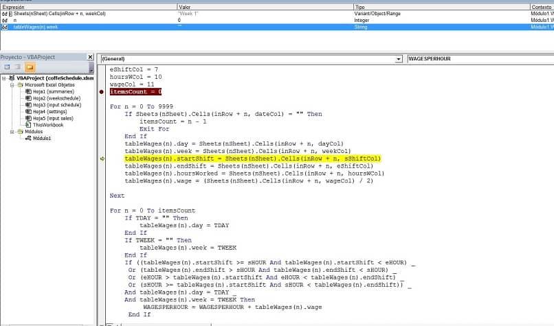 funções códigos vba