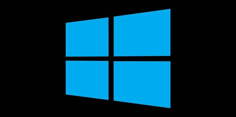 fundo preto azul com logotipo do windows 10