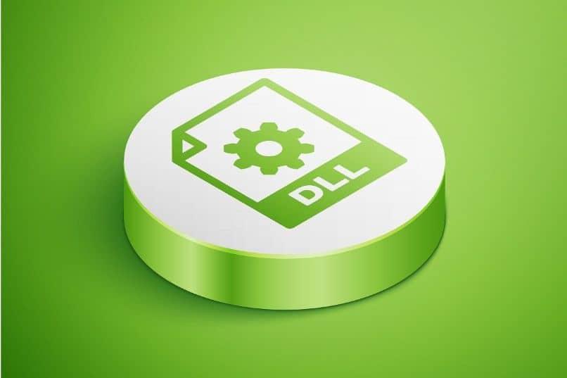 ícone de arquivo dll verde