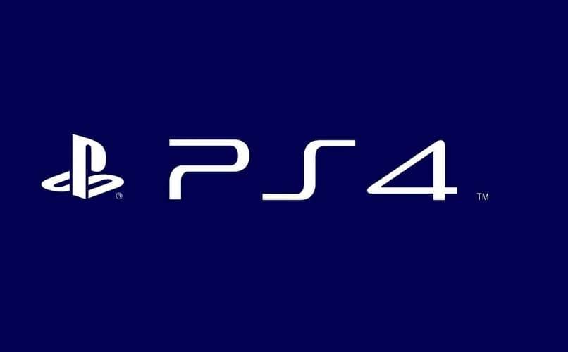 letras e logotipo ps4