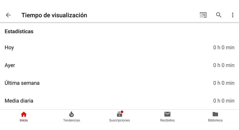 vendo o tempo no app do youtube