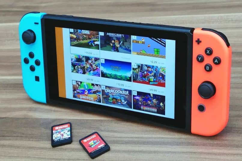 menu de troca da Nintendo