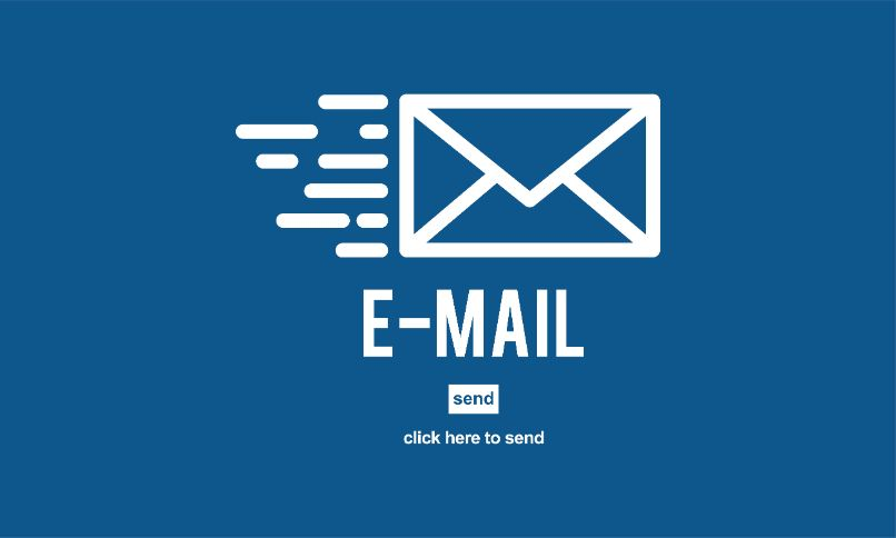 email email fundo azul