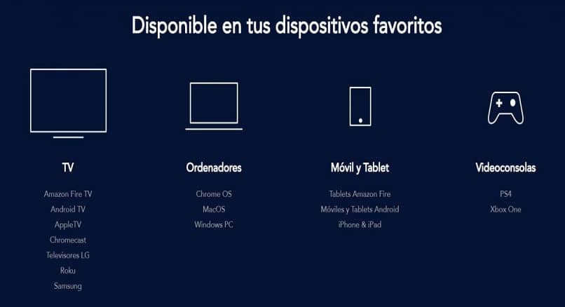 dispositivos inteligentes para assistir disney plus