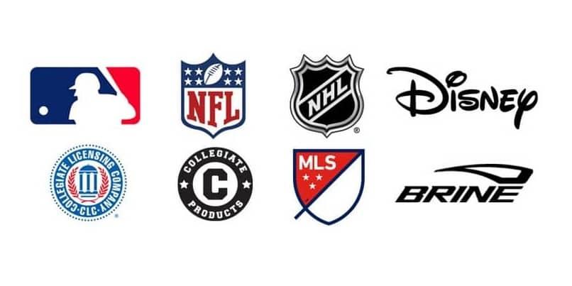 várias marcas esportivas