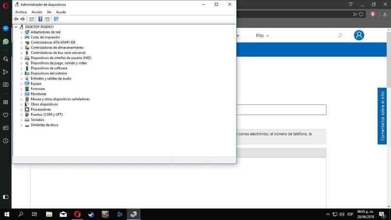 gerenciador de dispositivos windows