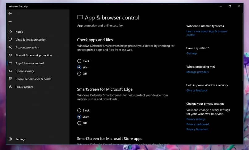 configuração de segurança do windows