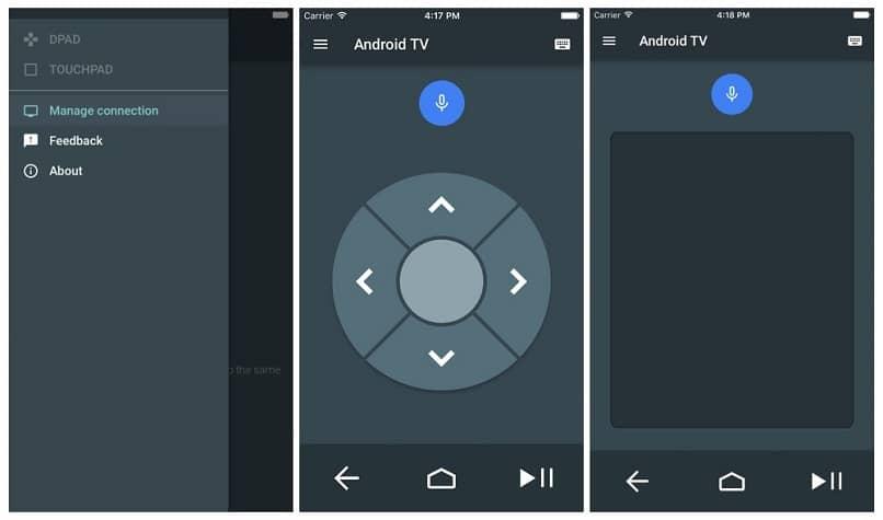 android tv control app celular