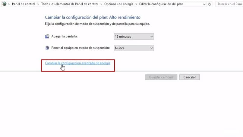 alterar plano de energia do Windows