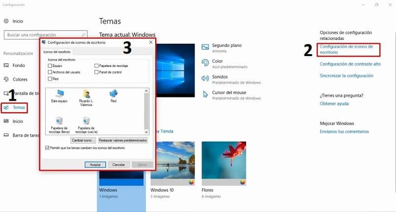 colocar iconos windows