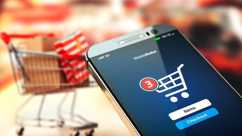 comprar produtos online do smartphone