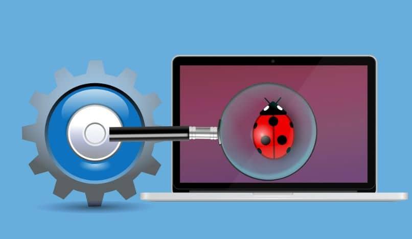 laptop encontrando e resolvendo problemas
