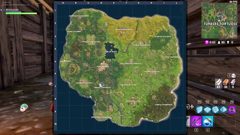 mapa das minas escondidas em fortnite