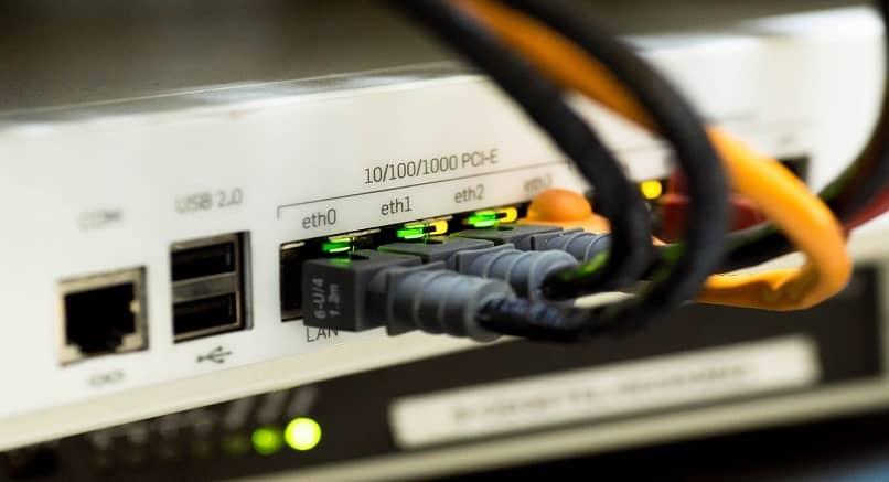 verificando a conexão do cabo ethernet