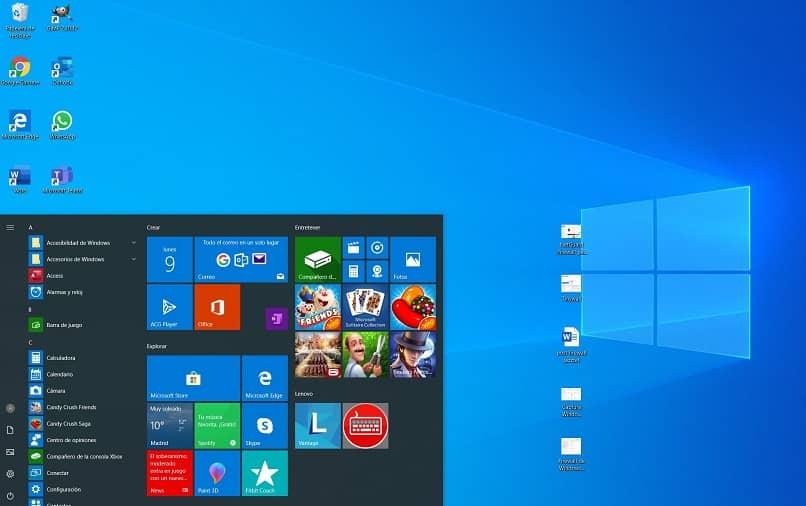 menu de aplicativos janelas 10