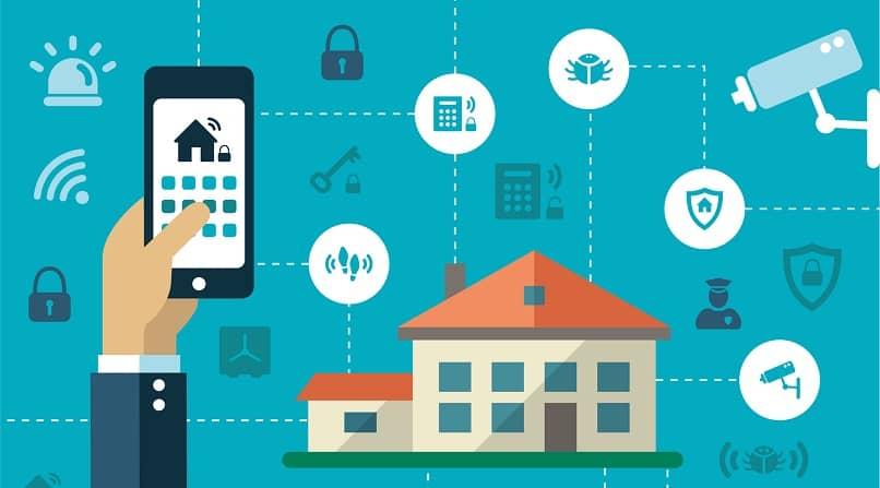 funções de controle de smartphone em casa
