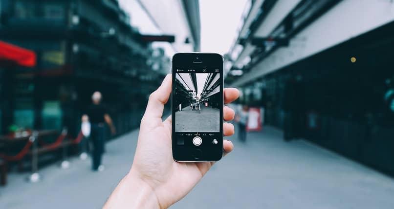 tirando foto do telefone