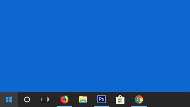 janela do windows 10 com barra de tarefas
