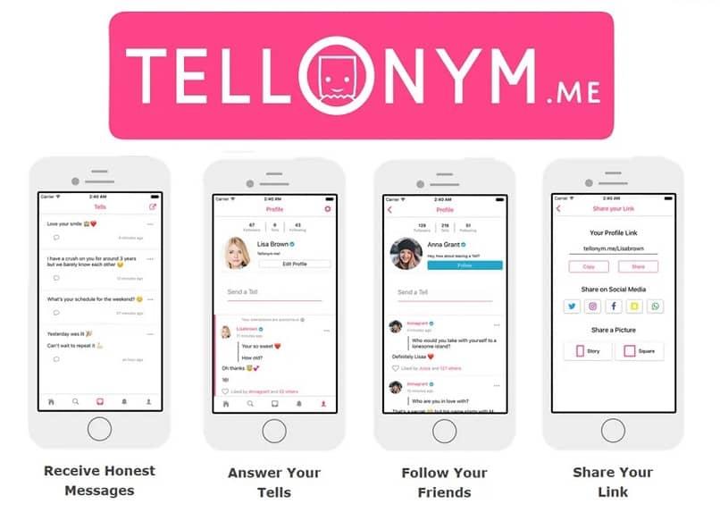 app de mensagens tellonym