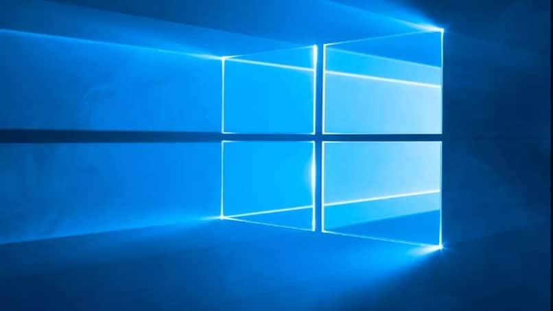 windows logo azul