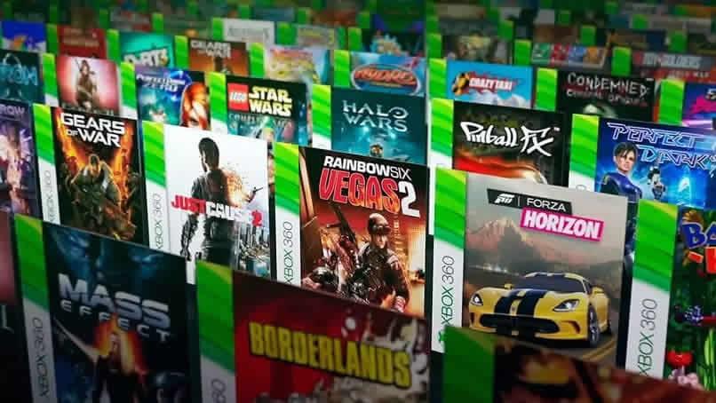 jogos xbox 360 exibidos em uma linha