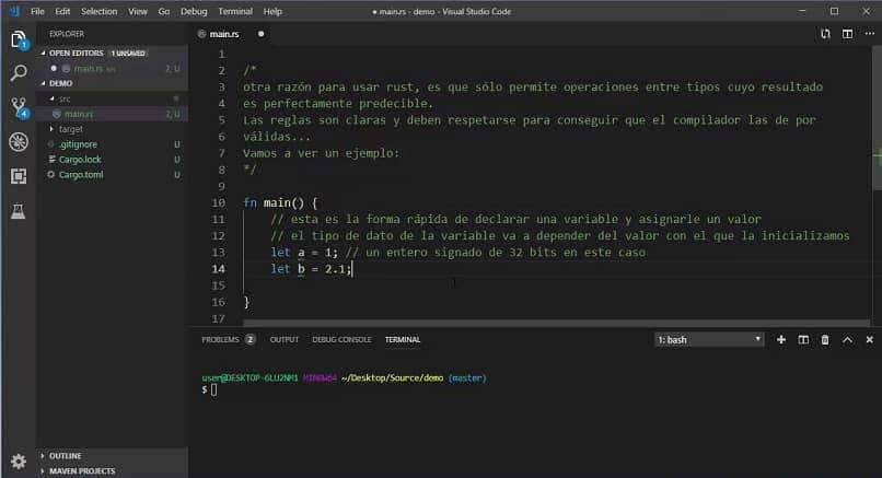 linguagem de programação ferrugem