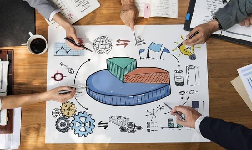 reunião planejando uma estratégia corporativa