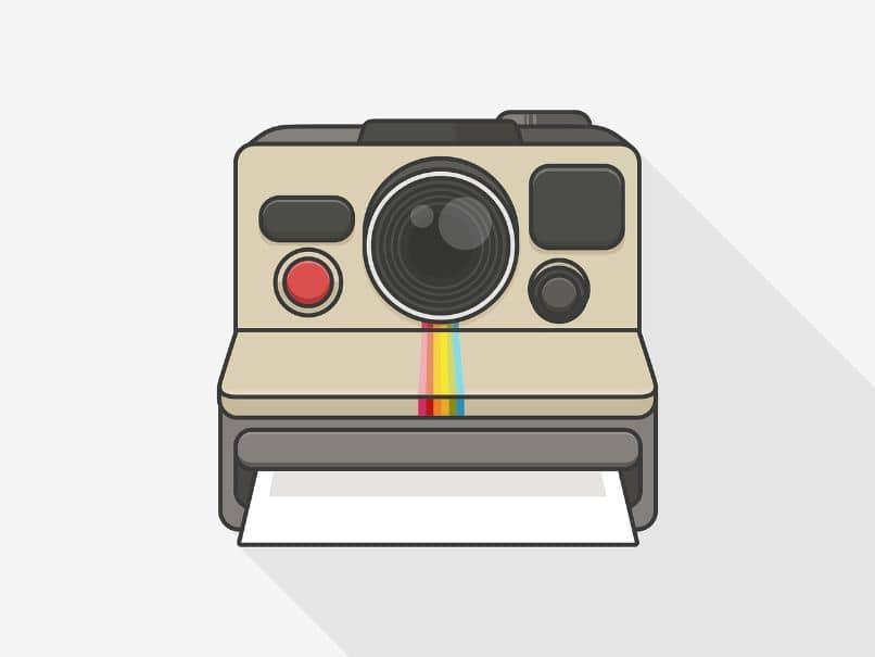 desenho de câmera instantânea